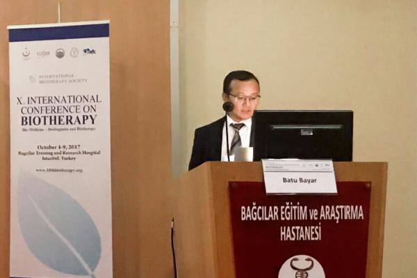 Batu Bayar - 10. Uluslararasi Biotherapy Konferans Sunumu