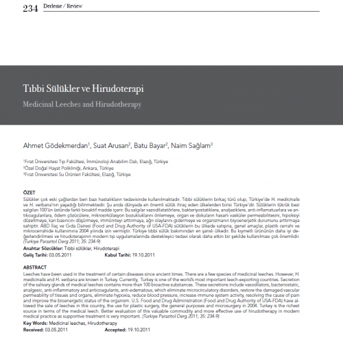 Dr.Batu-Bayar-Tibbi Sulukler ve Hirudoterapi Yayini